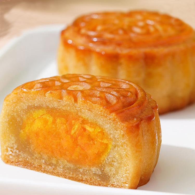 Mid-Autumn festival yolk egg yolk white lotus seed paste moon cake