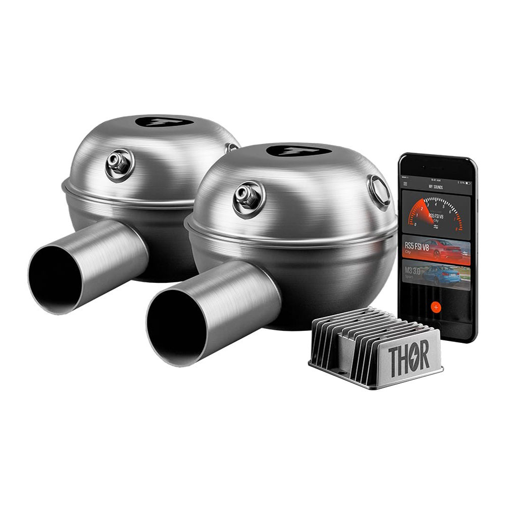 THOR car sound booster with 2 loudspeakers for Porshe with APP Control