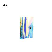 Цветной прозрачный чехол для ноутбука, спиральный Дневник для путешествий, сделай сам, связующий дневник с 6 отверстиями, чехол для планиров...(Китай)