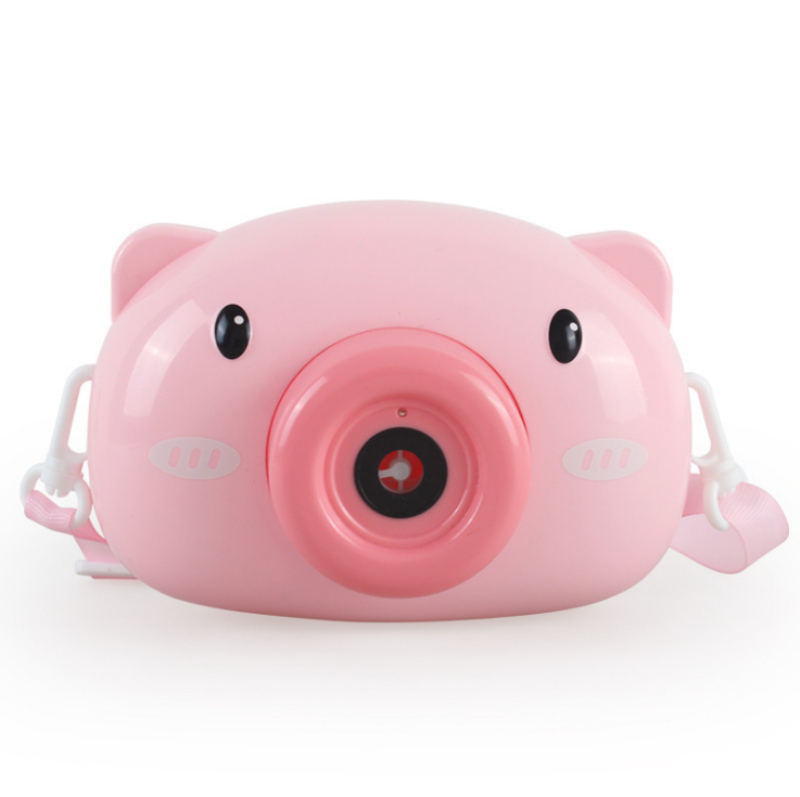 2020 hot selling popular bubble machine toy camera bubble maker toy outdoor & indoor cute pig bubble toy camera for kids