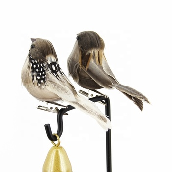 Christmas tree decoration supplies simulation sparrow feather bird
