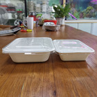 Food Container Takeaway Bagasse Food Container With Lid Disposable