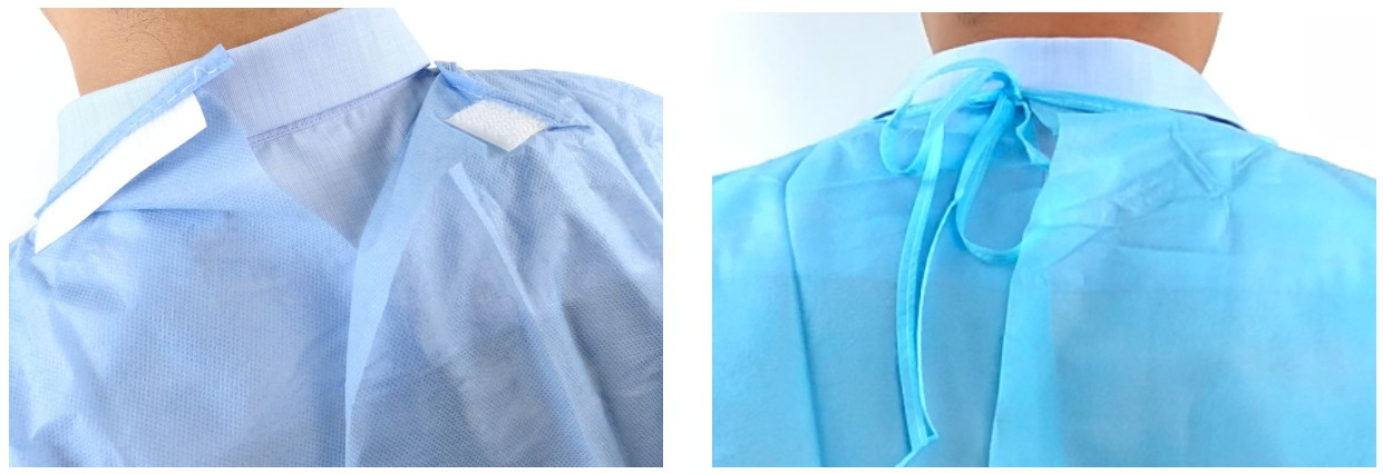 Hospital disposable medical surgical isolation gown sms pp pe non woven isolation gown