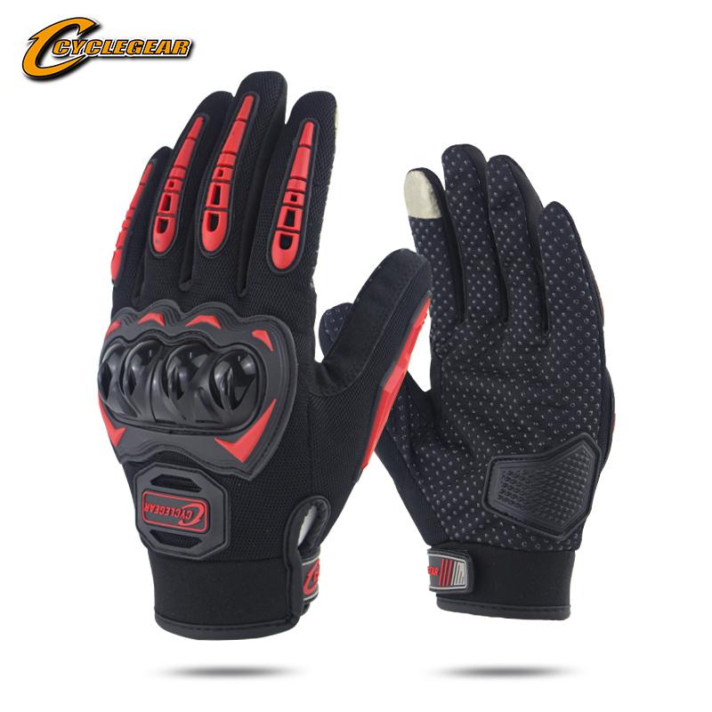 Сенсорный экран мотоцикл полный палец перчатки для велоспорта мужские перчатки без пальцев для велосипеда Cyclegear жесткий корпус защитный CG666-S