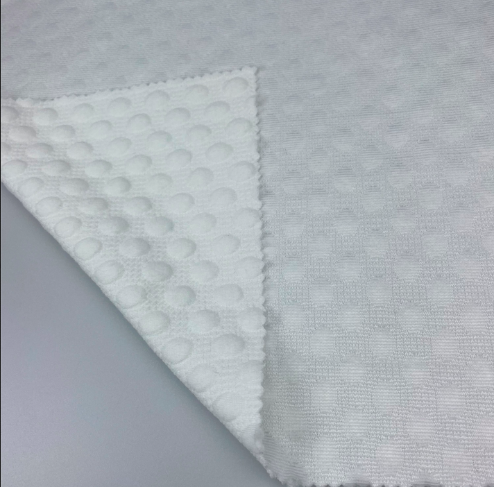New stretch jacquard knitted fabric high stretch double layer fabric 100% Polyester
