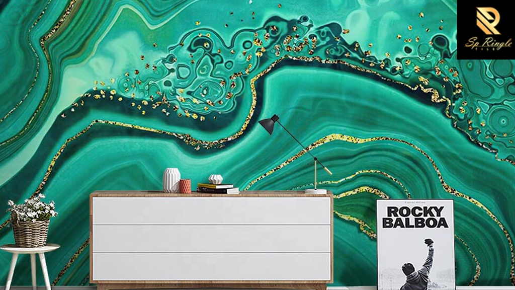 Springletile 600x1200 luxury for villa green and golden decorative Wall bathroom ceramic tiles