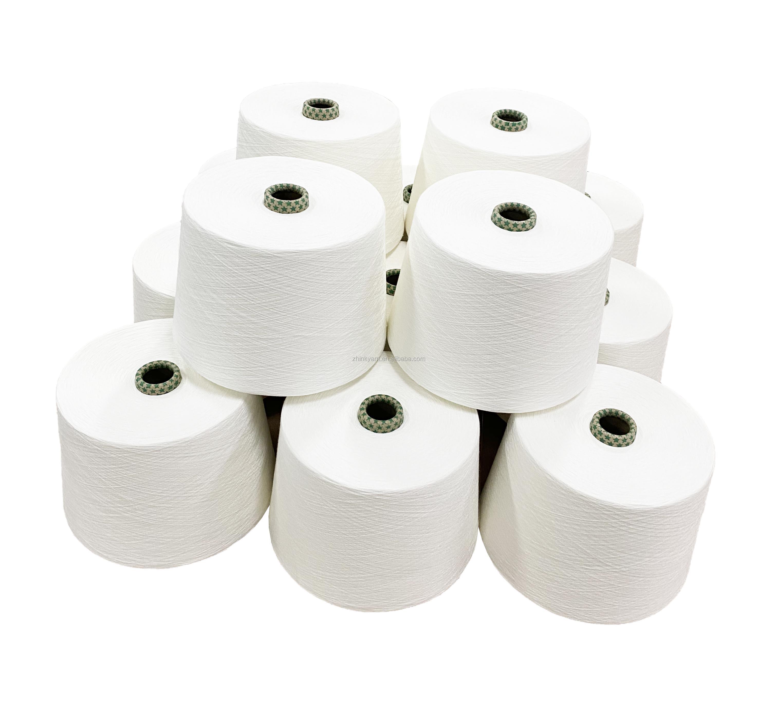 50% bamboo 50% polyester Ne 50/1 slub yarn for knitting fabric bamboo knitting yarn