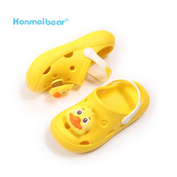 2021 Cute anti-slip hard-wearing comfortable holes kids garden shoes children clogs