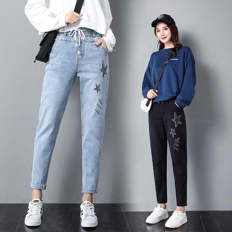 Factory Direct Jeans 2020 Tide Spring Ms Korean New Women S Jeans Feet High Waist Pants Buy 2020 Latest Design Women Fashion Embroidery Blue Mid Waist Women Jeans Lady Pants Wholesale Summer Design