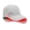 White Cap with Red Lights