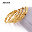 Bracelet Ethiopian Luxury 24K Gold Plated Bangles For Women Wife Wedding Gifts African Dubai Party Bracelet Jewelry Ornament Wholesale