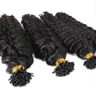 loose deep wave i Tip Hair Extensions russian micro links itip hair extensions
