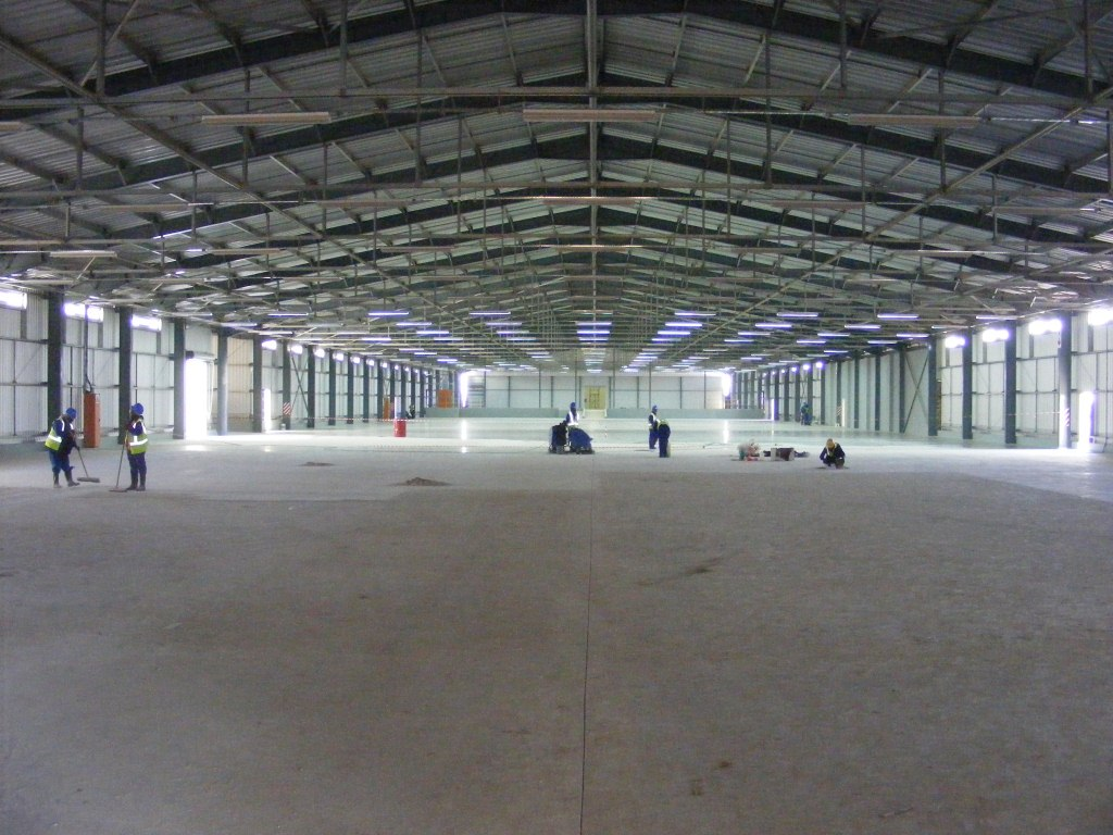Factory steel structure workshop with industrial construction drawing