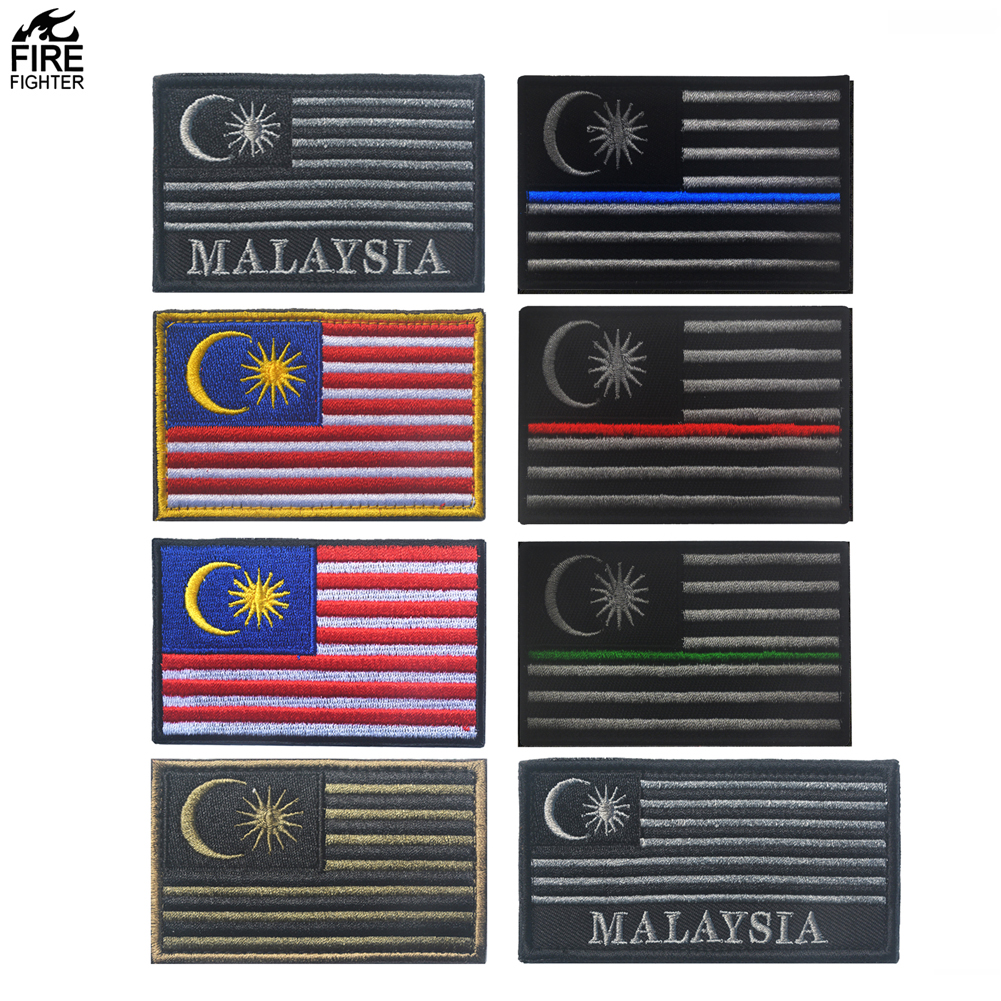 Flag patch printed badge country taiwan