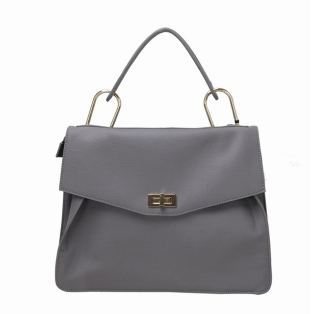 Fashionable leather bag woman D ring hand bag luxury ladies handbag online