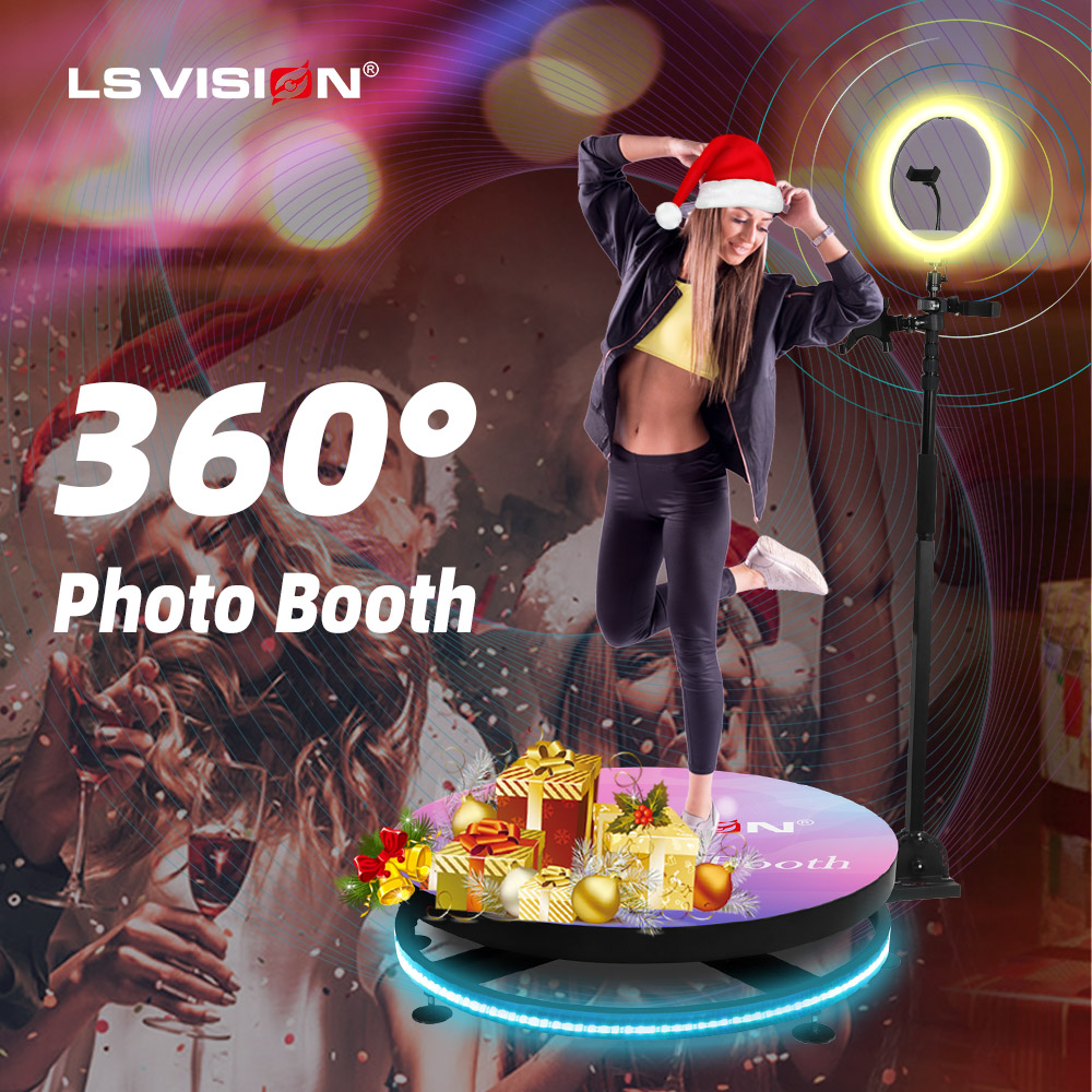 Automatic Slow Spinning Live BackDrop Portable Camera 360 Degree Photo booth video 360 photo booth rental