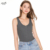 Factory price tank top bodysuits shorts sleeveless bodysuit for women