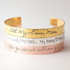 Rose Gold/Both sides inscripted