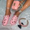 shoe+bag+headband pink