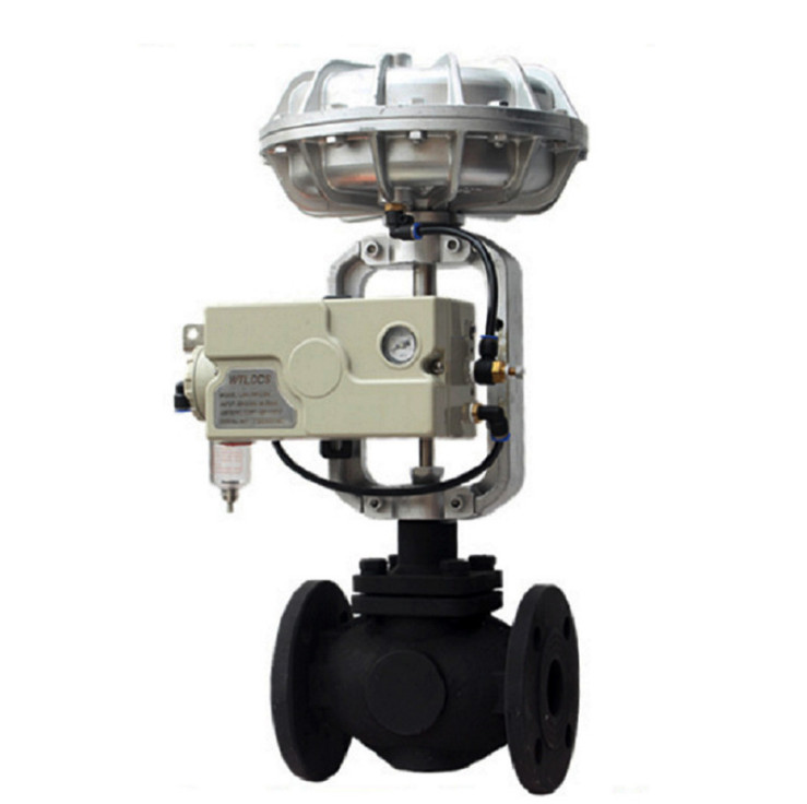 Pneumatic Stainless Steel / Cast steel Actuator Diaphragm Two-way Control Valve with Positioner