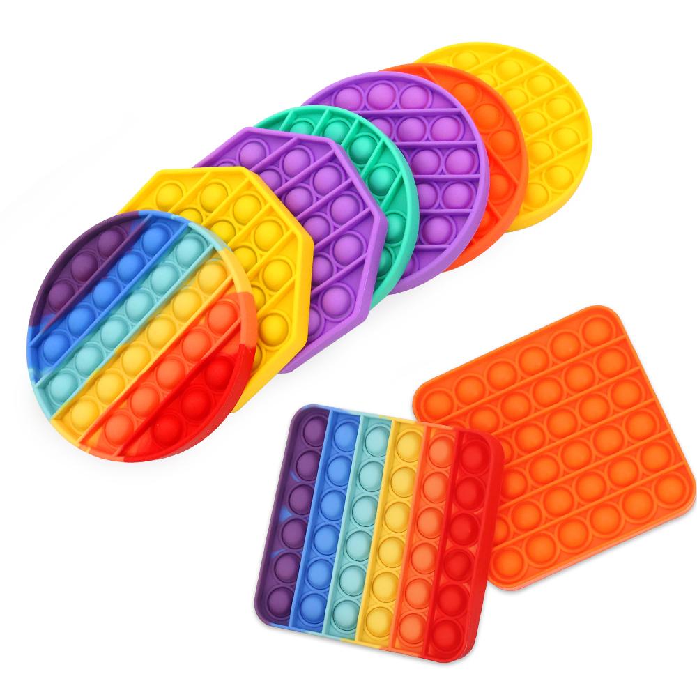 Huiye pop it fidget toy square bubble sensory fidget toy hand push pop het bubble fidget zintuiglijke speelgoed
