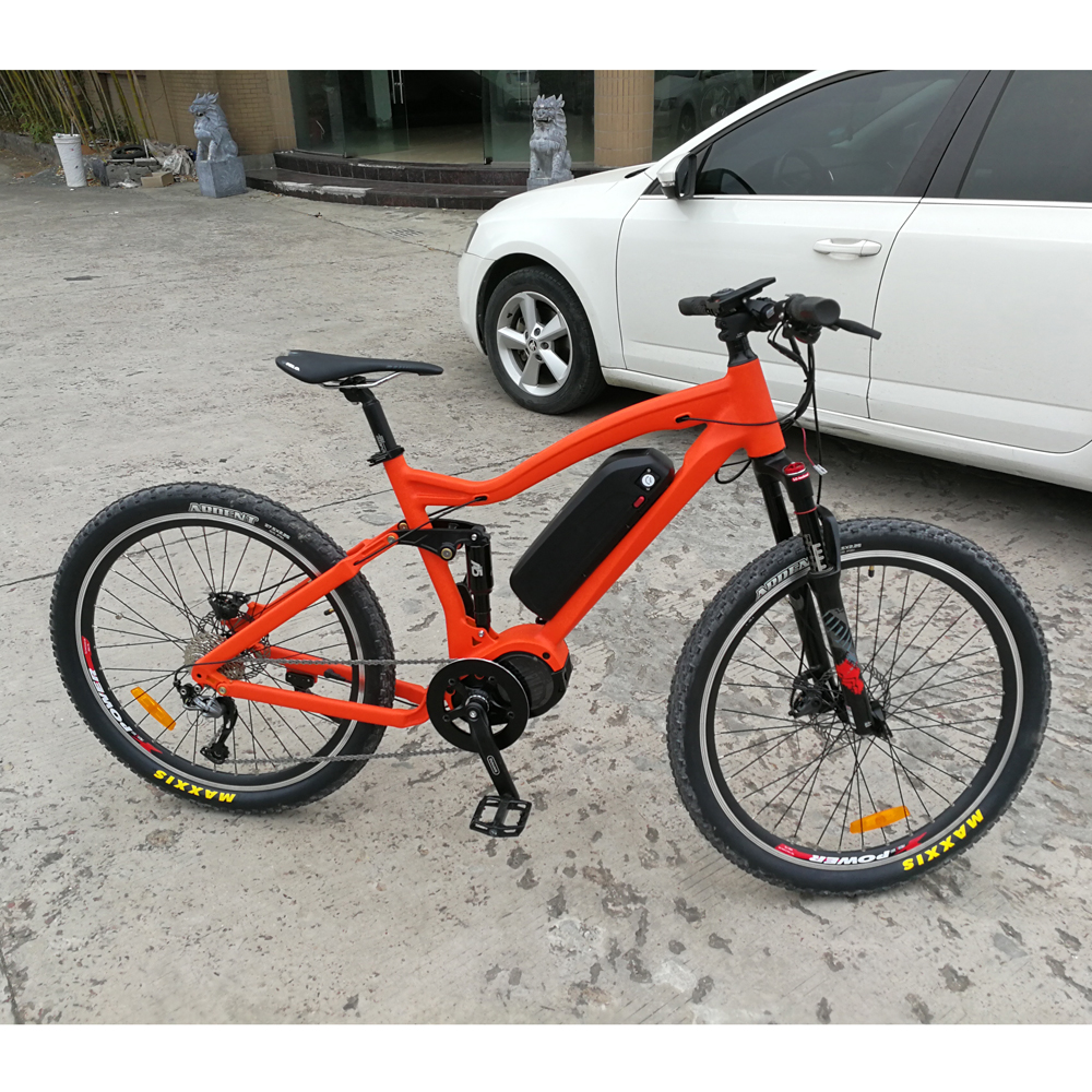 27.5 inch Full Suspension MTB Sport Electric Bicycle bike m620 system g510 48v 1000w bafang ultra frames with motor