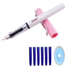 8 шт./лот, набор чернильных ручек с стираемыми чернилами, 0,5 мм, синяя кавайная стираемая ручка для детей, школьные принадлежности, ручка для к...(Китай)
