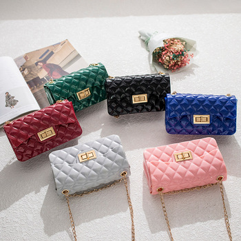 2020 Fashion women jelly purse bags women hand bags ladies shoulder kids