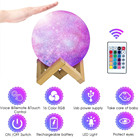 16 Colors Moon Lamp 15cm 3D Printing Rechargeable 3D Night Light With Remote Control