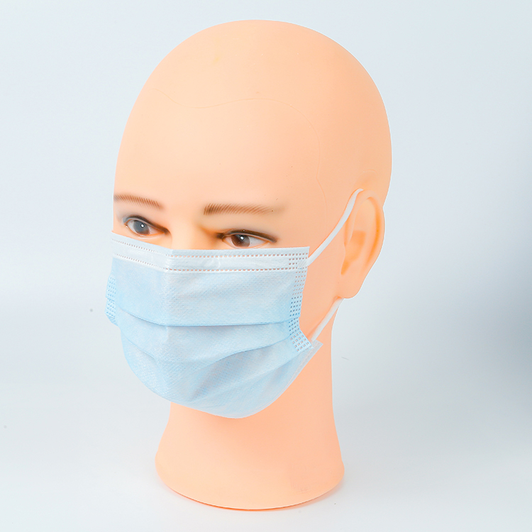 Adult Protective Face Cover In Stock 3Ply Disposable Nonwoven Face Mask For Dust With Earloop - KingCare   KingCare.net