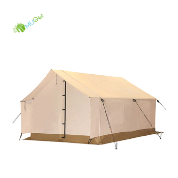 YumuQ Luxury Waterproof Glamping Cotton Canvas Wall Tent, 12' x 14' for Outdoor Camping, Travel, Family OR Military