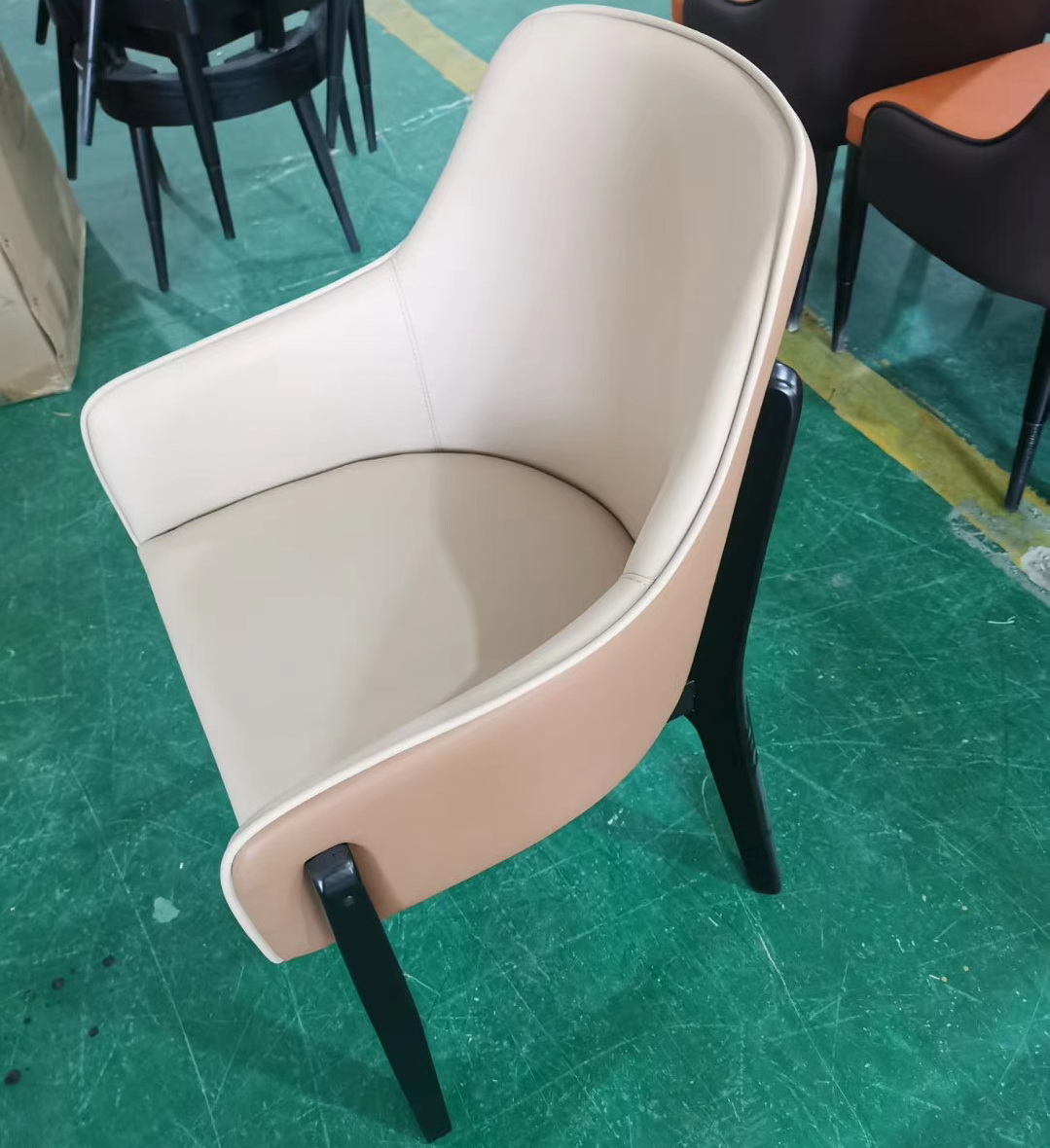 restaurant furniture dining chair with wood legs optional leather color fabric chair 2020 new design