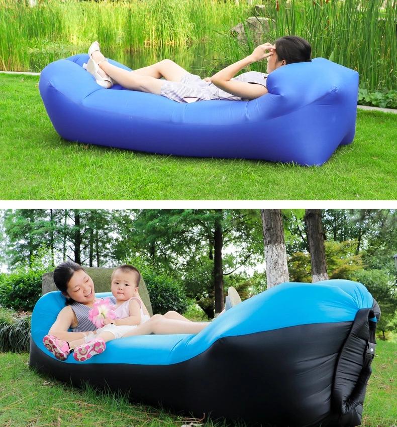 Новый надувной диван для отдыха на открытом воздухе, быстрый надувной лежак, Пляжная надувная кровать, складной спальный мешок, ленивый диван