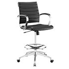 vinyl faux leather swivel drafting chair office chair with footrest
