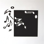 New Style Musical Blackboard Magnetic Stickers Home Decoration Whiteboard Note Soft Fridge Magnet