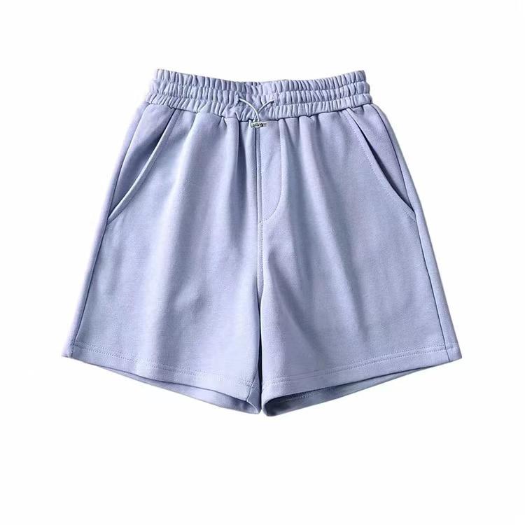 Summer 2021 Women Clothing Custom Logo Blank White Cotton French Terry Sweatshorts Women Sports Shorts