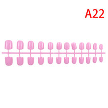 31 цвет 24 шт короткие накладные ногти ABS искусственные кончики пальцев нажмите на короткие круглые украшения для дизайна ногтей(Китай)