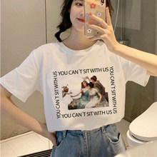 Женская футболка с рисунком Angel Aesthetic, Милая футболка в Корейском стиле, 90s(China)