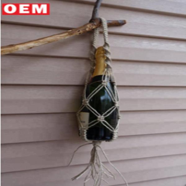 Jersey macrame bottle bag