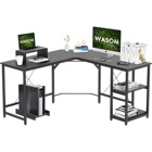 Wood Hot Selling Modern L-shaped Wood Office Desk Computer Gaming Desk