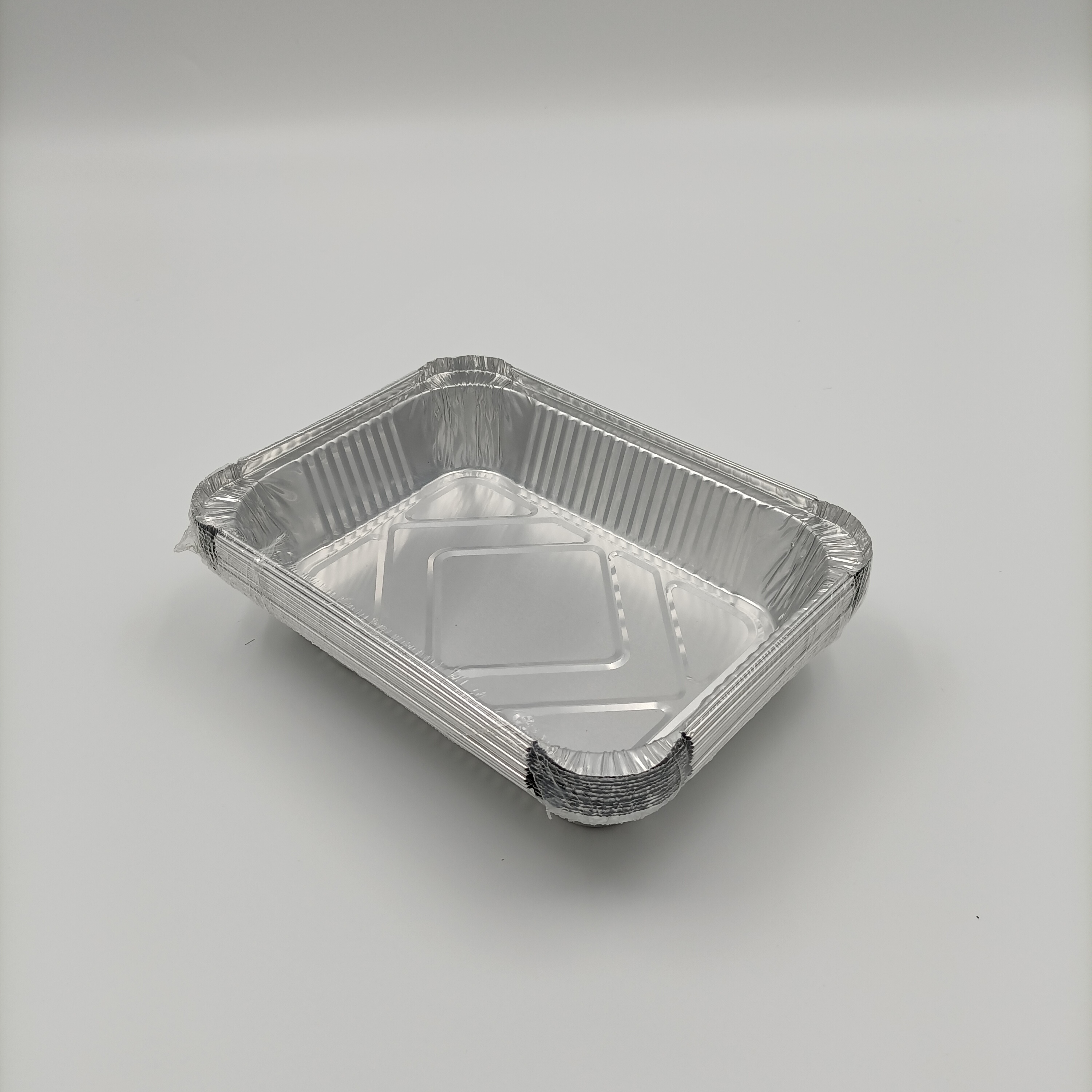 disposable catering food packaging aluminum box foil take away tray with plastic lid
