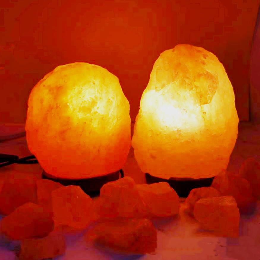 Natural Himalayan Salt Lamp Mini Desk Himalaya Salt Rock Smart Dimming LED Heating Aroma Oil Lamp Spa Yoga Night Ligh