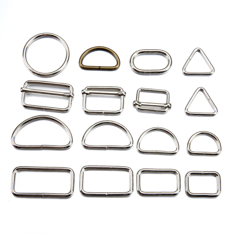 Fashion Smooth Polishing Buckle Rings Plated Metal Zinc Alloy Bag Belt Hardware Accessories D Ring