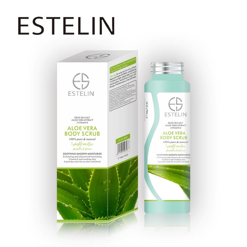 Factory Direct ESTELIN Green Tea Bath Salt Soothing Body Scrub Exfoliating