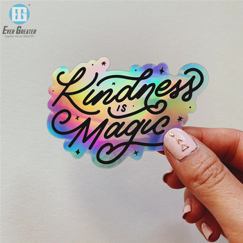 Best Selling Custom Vinyl Holographic Waterproof Die Cut Hologram Sticker