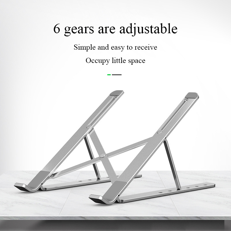 Hot sale 6 Angles Adjustable Aluminum Alloy invisible Foldable Laptop Stand