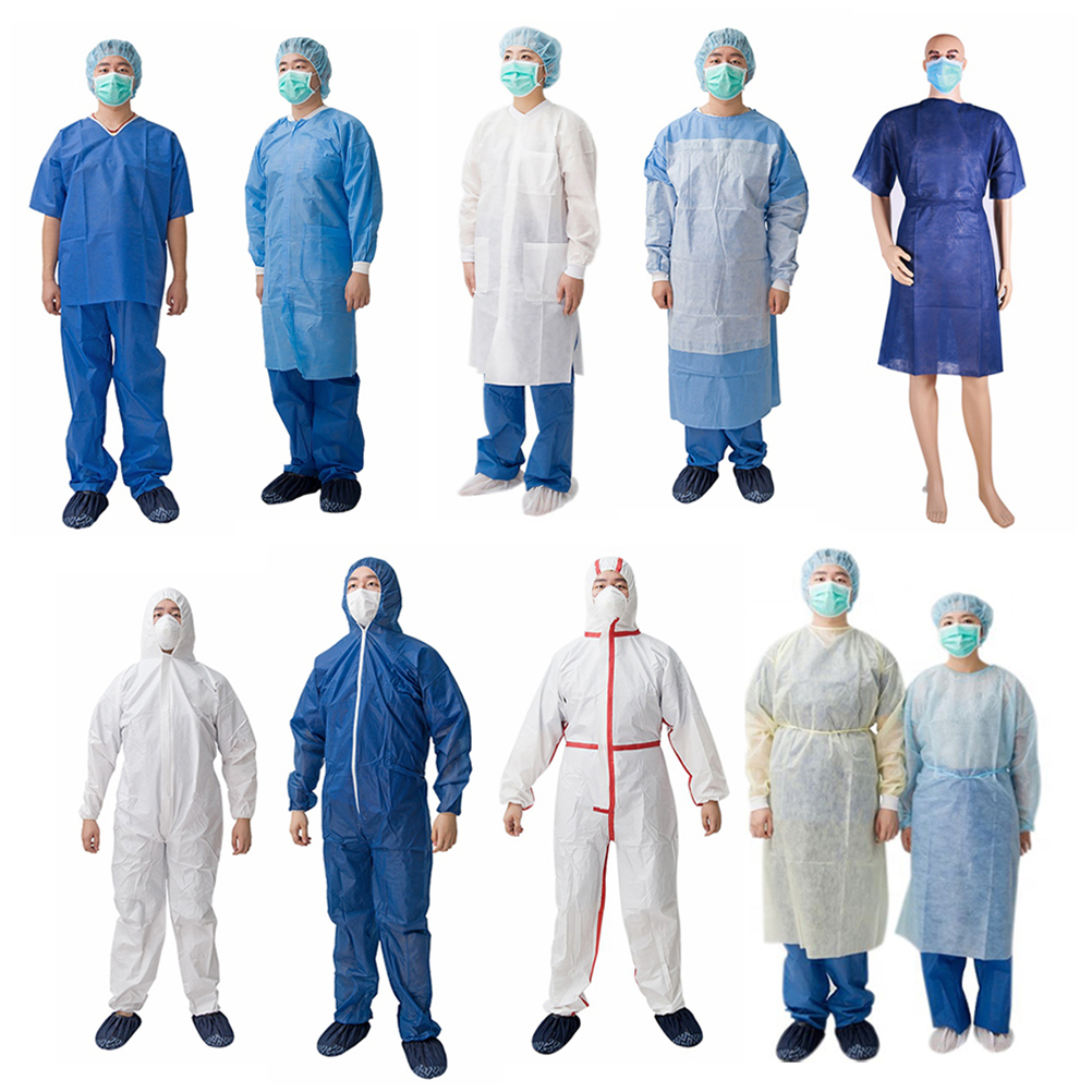 non woven protective disposable type5 6 coverall with tape wholesale black coverall