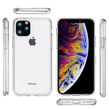 Wholesale factory cheap Shockproof clear TPU ACRYLIC Cell Phone Case For iphone 11pro