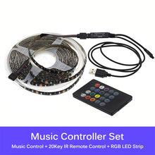 RGB сменная USB Светодиодная лента 2835 гибкий светодиодный светильник управление Bluetooth/управление музыкой DIY светодиодный ленточный светильни...(Китай)