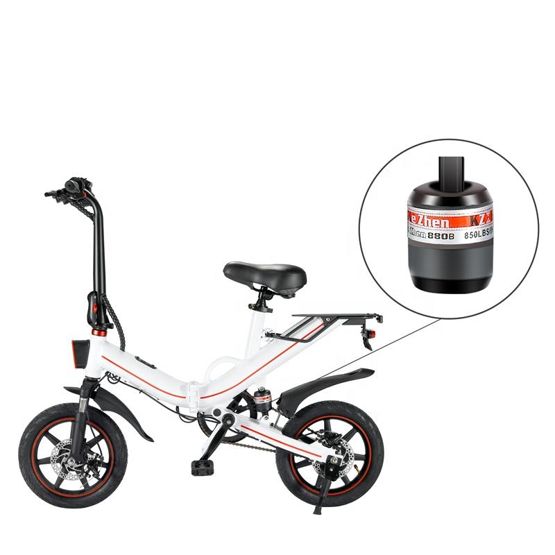 China 400W Powerful high quality E Bike 14 inch IP54 electric bike tricycle foldable mini ebike